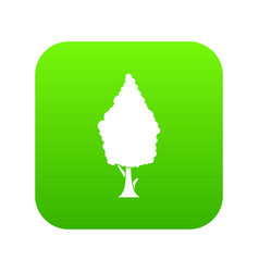 Cypress icon digital green vector