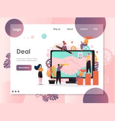 deal website landing page design template vector image