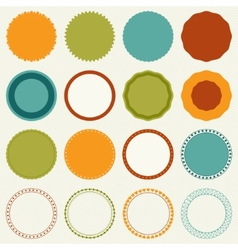 Decorative circle frames vector
