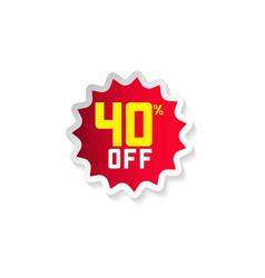 Discount 40 off template design vector
