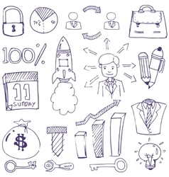 Doodle of business theme vector image