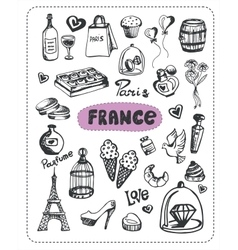 Doodle of France vector image