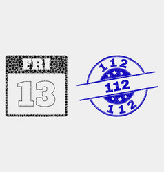 dot 13th friday calendar page icon and vector image