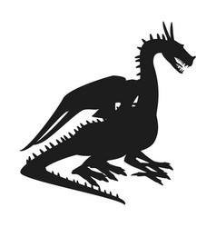 Dragon mythical creature fantasy beast animal vector