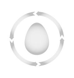 egg turn icon vector image