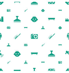 Equipment icons pattern seamless white background vector