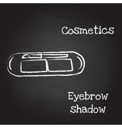 Eyebrow shadow painted with chalk on blackboard vector