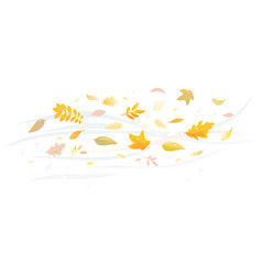 Fallen leaves on wind isolated vector