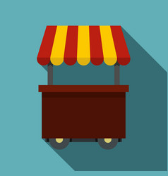 fast food cart icon flat style vector image