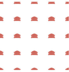 fence icon pattern seamless white background vector image