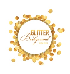 Golden Glitter Background vector