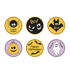 Halloween tags set vector