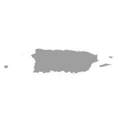 High detailed map puerto rico vector