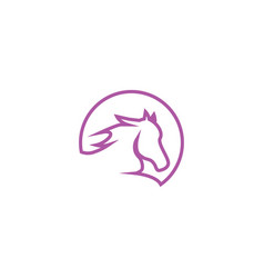Horse head logo icon template vector