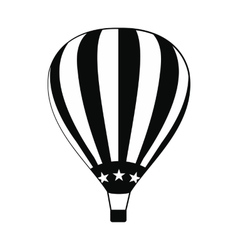Hot air balloon with USA flag icon vector