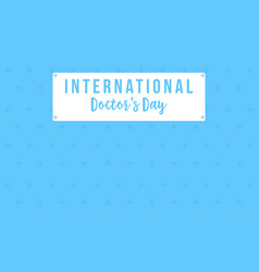 intertational doctor day card style collection vector image