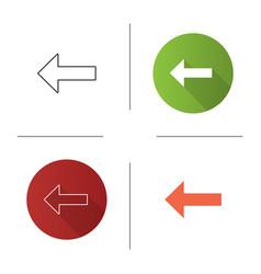 Keyboard backspace button icon vector