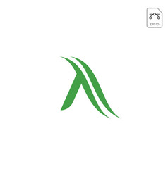 letter a nature leaf logo design vector image