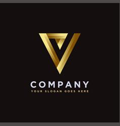 Luxury minimalist letter v check mark logo icon vector