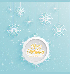 merry christmas and happy new year 2019 on blue s vector image