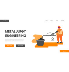 metallurgical heavy industry company website vector image