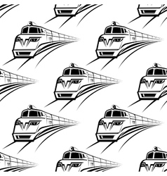 Modern train seamless pattern vector image