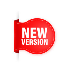 New version red label on white background red vector