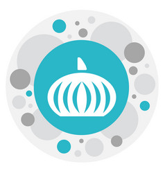 of dessert symbol on pumpkin vector image