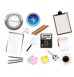 Office supplies vector vector