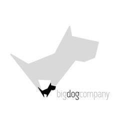 Original dog with shadow vector