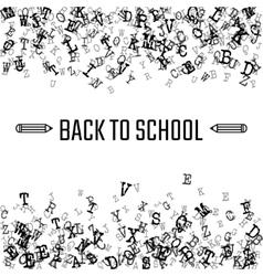 Outline School banner vector image
