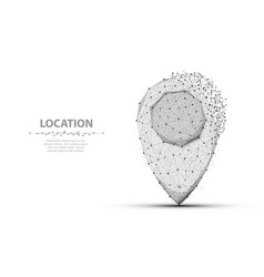 pin polygonal mesh art concept or vector image