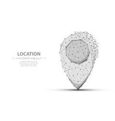 Pin polygonal mesh art concept or vector