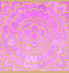 pink abstract flower mandala background - digital vector image