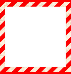 red and white stripes with grunge texture warning vector image