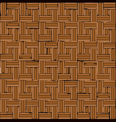 Red brick parquet flooring vector
