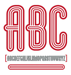 Retro vintage capital english alphabet letters vector