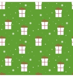 Seamless Christmas pattern Scrapbook New Year vector image vector image