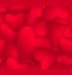 seamless pattern of small red hearts background vector image