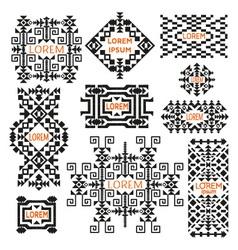 Set of tribal logos vector image