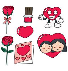 set of valentine day vector image