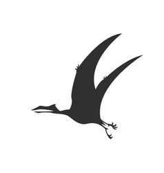 Silhouette pterosaur dinosaur jurassic prehistoric vector
