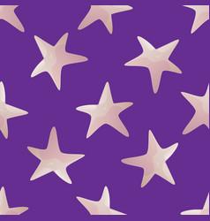 starfish seamless pattern vector image