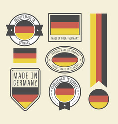 stickers tags and labels with germany flag vector image