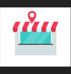 store or shop building location vector image