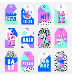 Summer sale tags collection vector