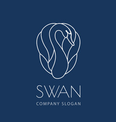 Swan logo sign emblem-11 vector