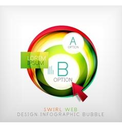 Swirl web design infographic bubble - flat concept vector image