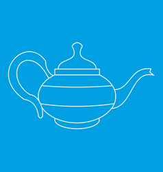 Teapot icon outline style vector