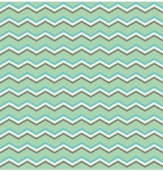 Tile white btown blue and green zig zag pattern vector image